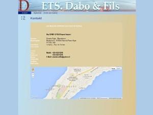 Website von ETS Dabo & Fils